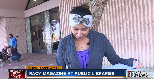 Racy Magazine Library Protest