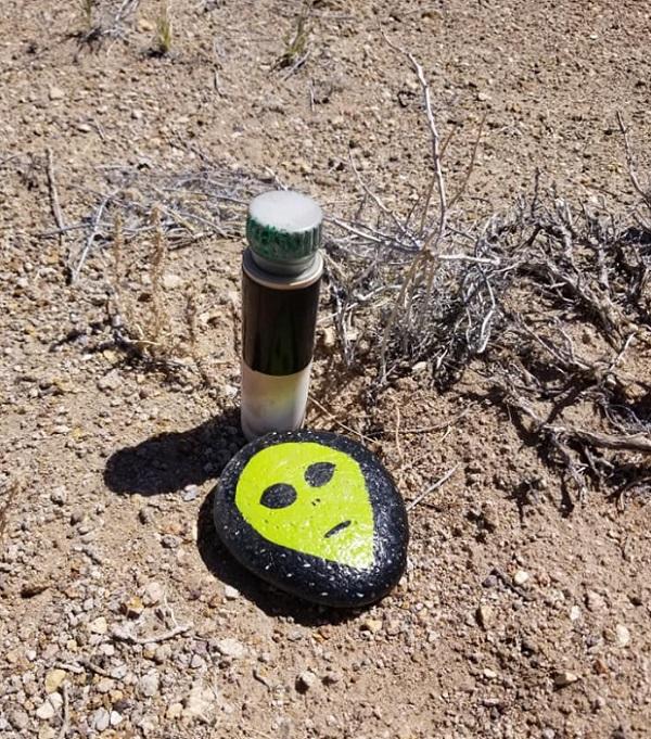 Area 51 Alien Head Geocaching