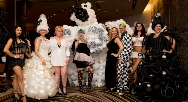 Guests don over-the-top fashions for Black & White Party.jpg
