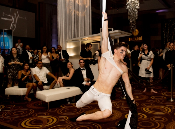 Strip entertainers perform at Black & White Party